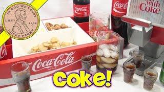 Coca Cola Kids Party Dispenser, Coke Glasses & Bottles