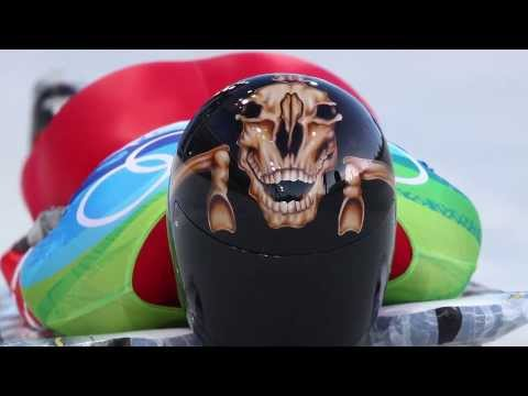 Canada's Olympic Skeleton Team Shows Off Amazing Helmets