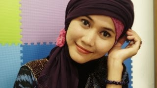 How To Wear Turban Hijab By Didowardah Part #10