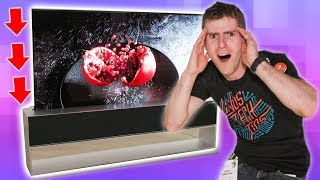 How does the rollable TV work?