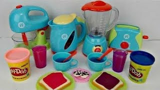 JUST LIKE HOME Deluxe KITCHEN Appliance Full Set with Play-doh & Frozen Elsa