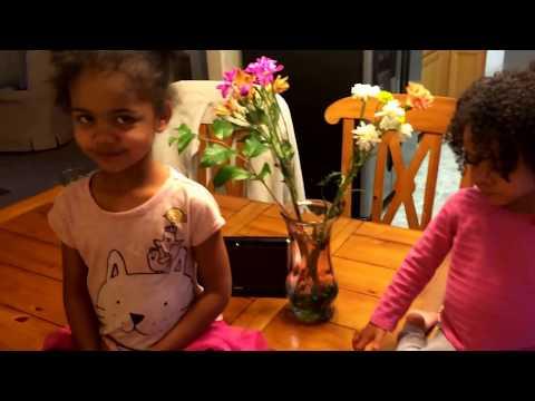 Olivia and Sami (My Nieces) singing Milele by Elani