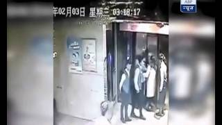 VIRAL VIDEO: Man breaks his both leg in lift accident in China