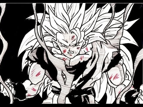 how to draw goku super saiyan 3 awaxdem