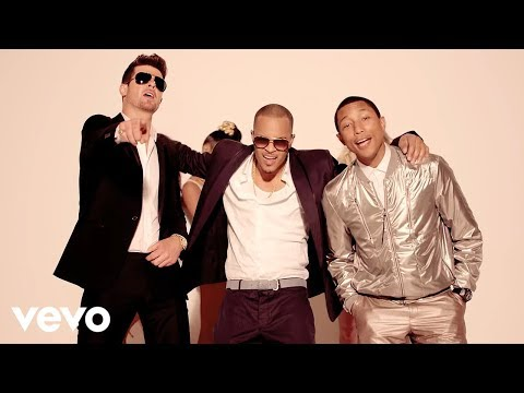 Смотреть клип Robin Thicke - Blurred Lines (+18)