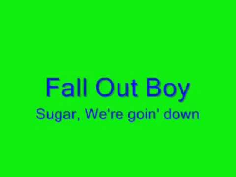 Fall Out Boy Sugar We Re Going Down Swinging