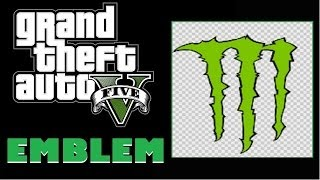 Grand Theft Auto 5 / GTA 5 : Monster Energy Logo Emblem