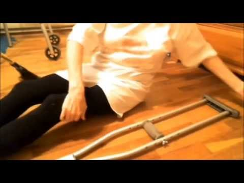 how to avoid falling with crutches