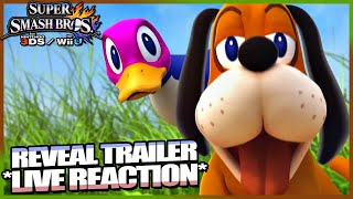 Live Reaction: Duck Hunt Reveal Trailer! (Super Smash Bros