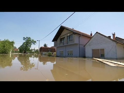 Risk of disease as Balkan flood waters recede