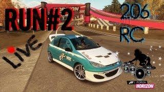 RUN#2 Avec TwF Gowst HD Sur Forza Horizon Peugeot 206 Rc