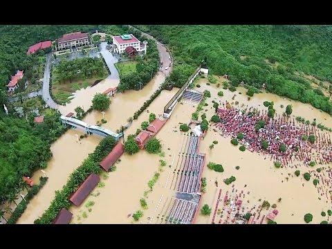 Những hình ảnh khủng khiếp về mưa lũ ở Quảng Ninh  7/2015