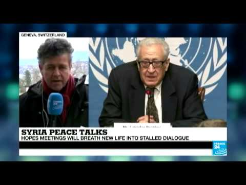 Syria peace talks: UN mediator Brahimi meets with Russian and US high-level