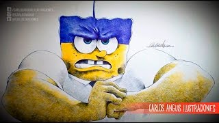 Drawing Sponge Bob Squarepants (Dibujando A Bob Esponja