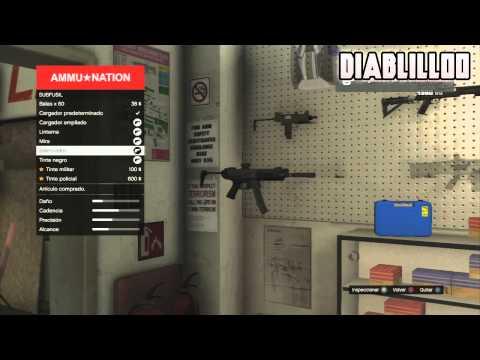 Truco GTA V: Mejorar Las Armas En Grand Theft Auto 5   Comprar Todos Los Accesorios De Arma Gratis !
