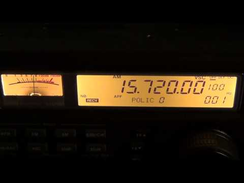 Radio New Zealand on Icom IC R8500 receiver