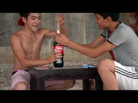 Thí Nghiệm: Bcs +cocacola + Mentos