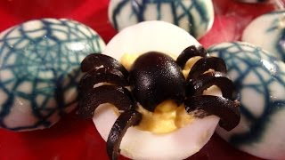 Spider Devilled Eggs And Spiderweb Eggs With Yoyomax12