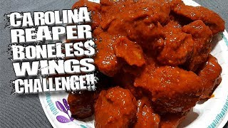CAROLINA REAPER BONELESS WINGS CHALLENGE │ WORLD'S HOTTEST PEPPER!!!