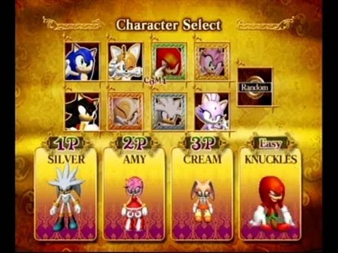 Sonic And The Secret Rings How To Unlock All Characters