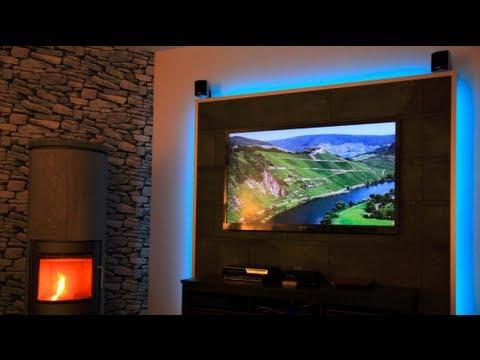 led tv wand selber bauen youtube. Black Bedroom Furniture Sets. Home Design Ideas