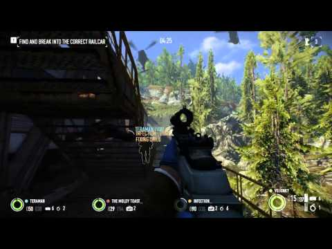 Payday 2 Armored Transport DLC - Harbor + Train Robbery Overkill (Enforcer/Tech)