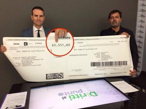 Riceve bolletta luce da 65mila euro