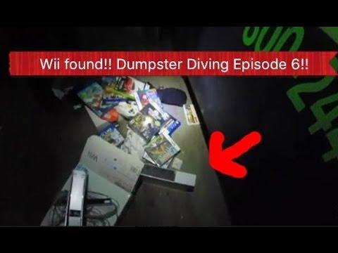 BEST!!! WII CONSOLE FOUND IN GAMESTOP DUMPSTER!! DUMPSTER DIVING EPISODE 6
