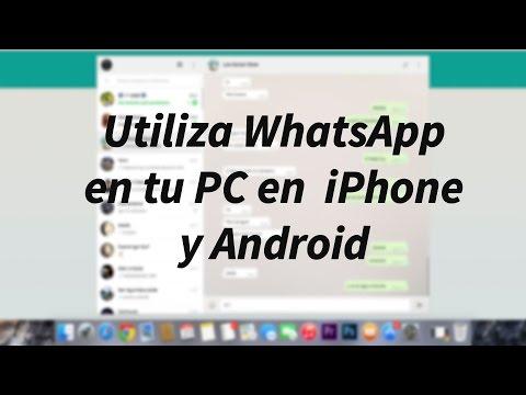 Como usar WhatsApp para PC en iPhone y Android Windows y Mac (WhatsApp web) español 2015