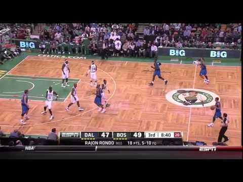 Rajon Rondo - (24pts-7asts) Highlights vs.Mavericks [1.11.2012]