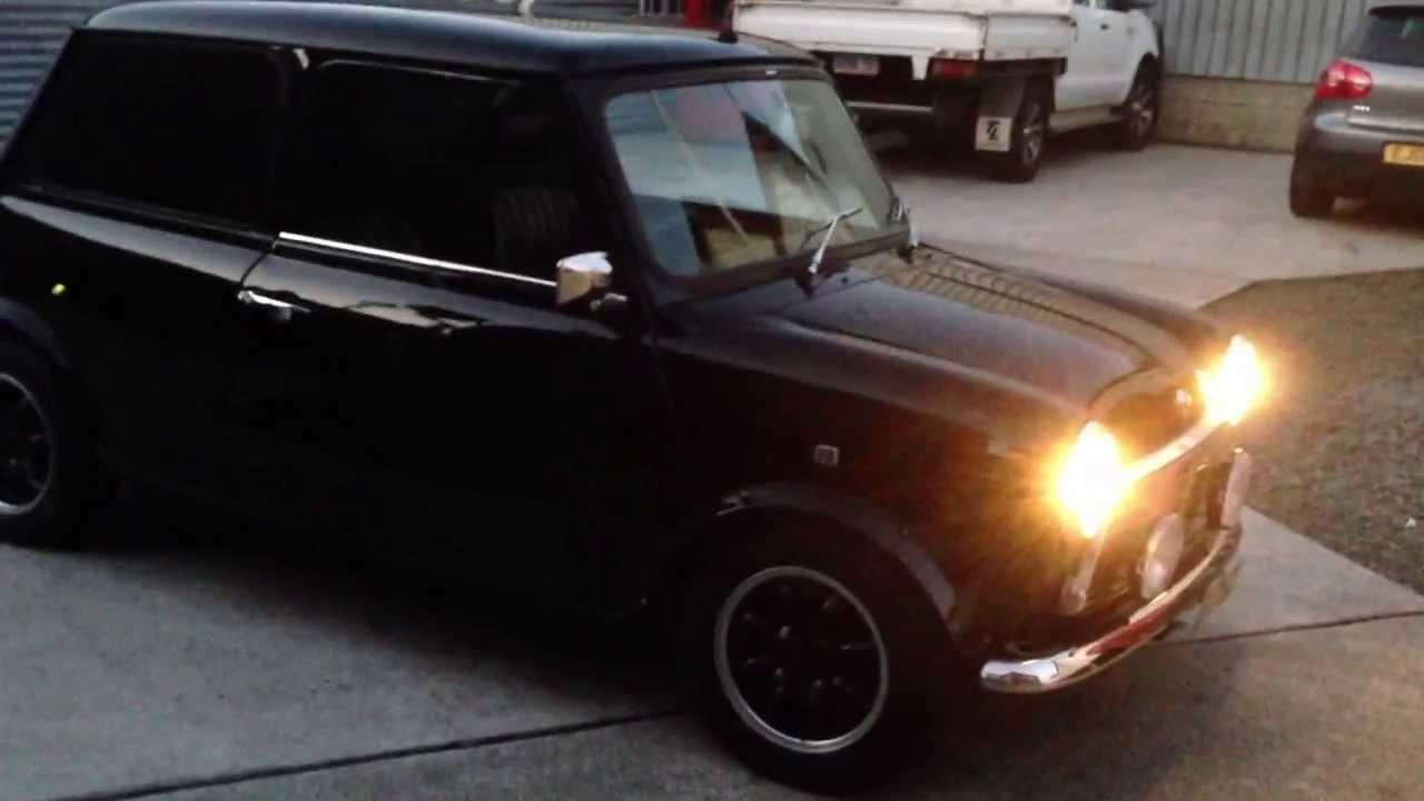 Year 1998 Model Black Rover Mini Cooper Paul Smith Edition