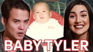 Reacting To My Boyfriend's Baby Photos • Saf & Tyler