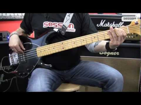 Sterling by Musicman Sub Ray 5 Bass Guitar (Black/Maple)