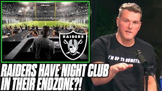 Pat McAfee Reacts To Raiders' Building Night Club In Their Endzone