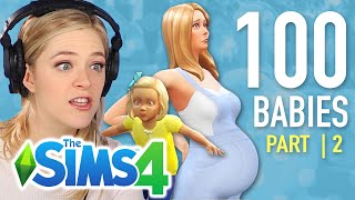 Single Girl Tries The 100-Baby Challenge In The Sims 4 | Part 2