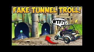 NEW FAKE TUNNEL TROLL! - Fortnite Funny Fails and WTF Moments!