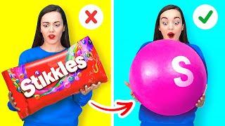 TRUCOS LOCOS DE 10 000 SKITTLES    Ideas y trucos coloridos de dulces de 123 GO! GOLD