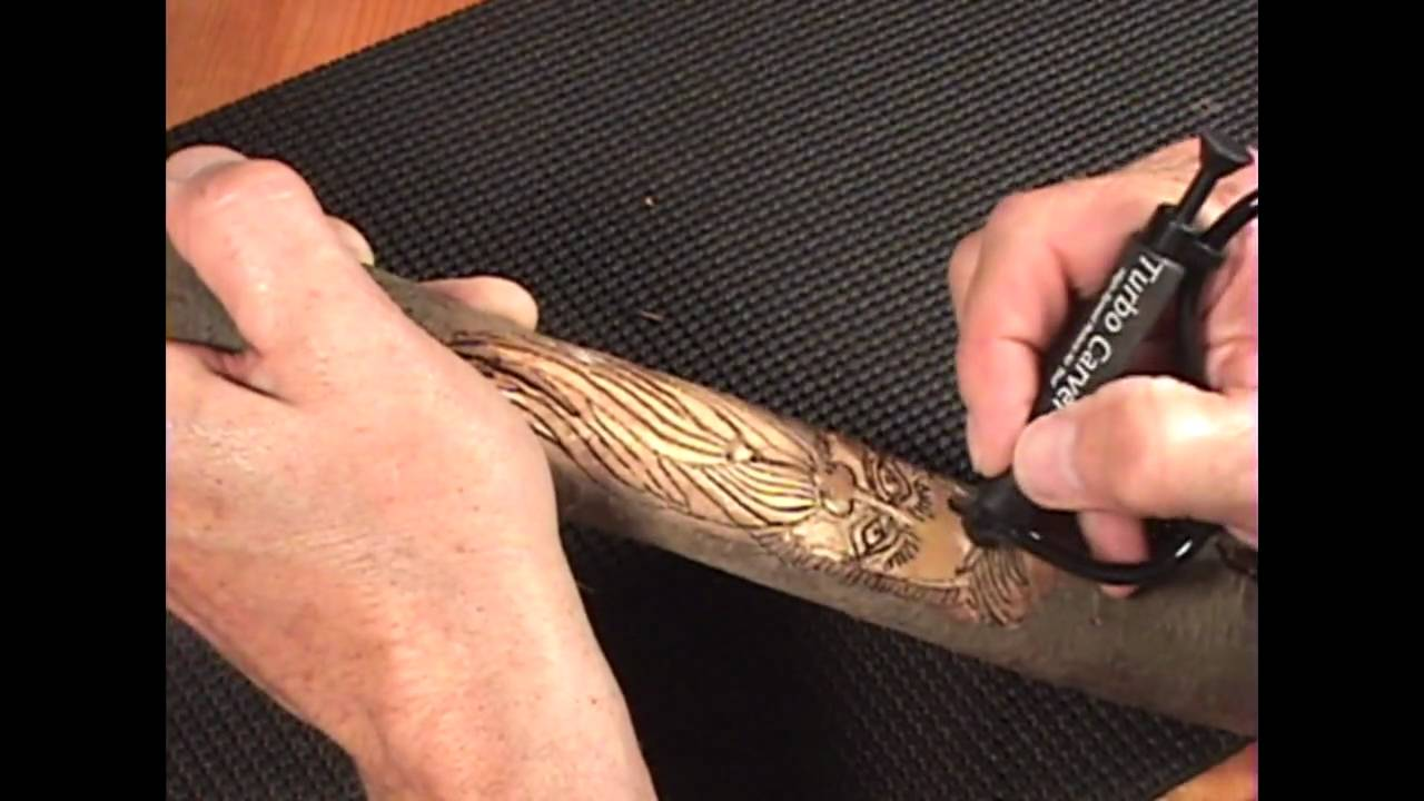 How To Carve A Walking Stick With A Turbo Carver Youtube