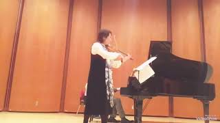 Megumi Matsumoto Violin 🎻 Violin Sonata No.1 by Gabriel Faure 4th movement 💐 December.9 2018