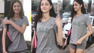 Ananya Panday Spreads Her Beautiful Smile Post Dance Practice For Student Of The Year 2