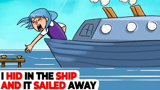 I Hid from a Bad Weather in the Ship, But It Sailed Away   Animated Story about Pirates
