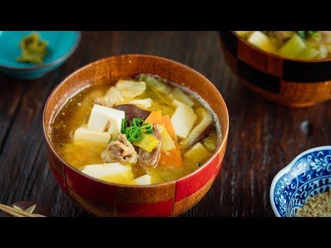Miso Soup with Yuzu Kosho 柚子胡椒入りお味噌汁の作り方 (日本料理)