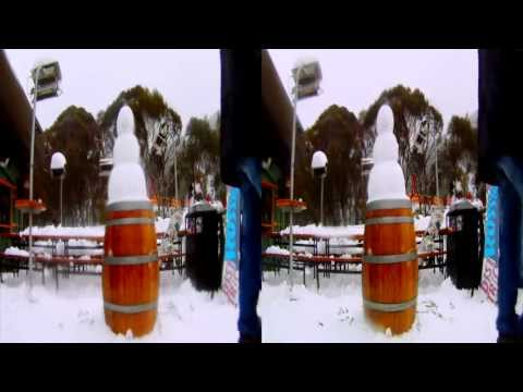 Thredbo in 3D July 6 & 7th 2011 - 3D GoPro Snowboarding movie
