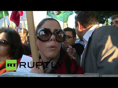Cyprus: Protesters gather outside Cypriot Parliament