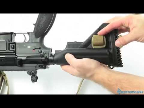 NSN Vickers Sling Attached to Buttstock of a HK M27 Option 1