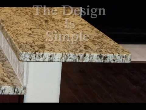 Flat Or Eased Granite Edge Youtube