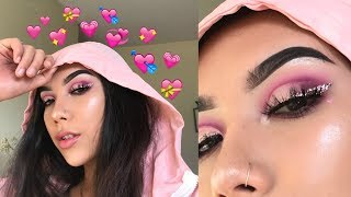 GLAM VALENTINES DAY MAKEUP LOOK