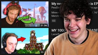 YouTubers Reacting To My Minecraft Videos