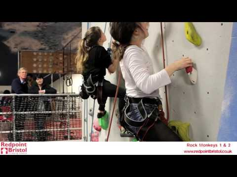 Rock monkeys level 1 & 2 term kids climbing bristol