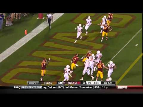 10/03/2013 Texas vs Iowa State Football Highlights